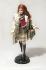 Poupée Barbie habillée par Burberry , édition limitée, exposée chez Harrods. Londres (Angleterre), le 22 octobre 2001. Photo : Geoff Caddick. © TopFoto / Roger-Viollet