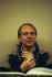 Karlheinz Stockhausen (1928-2007), chef d'orchestre et compositeur allemand. Londres (Angleterre), Barbican, janvier 1985. © Clive Barda/TopFoto/Roger-Viollet