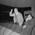 """Albert Camus (1913-1960), écrivain français, lors d'une répétition de """"Caligula"""". Paris, théâtre de Paris, 1958. © Studio Lipnitzki / Roger-Viollet"""
