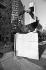 Monument à Albert Camus (1913-1960), écrivain français, place du Colonel Fabien. Paris (Xème arr.), mai 1988. © Roger-Viollet