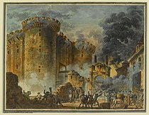Jean-Pierre Houel (1735-1813). Storming of the Bastille on July 14, 1789. Watercolour, gouache and quill. Paris, musée Carnavalet. © Musée Carnavalet/Roger-Viollet