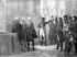Audience donnée aux savants Monge, Berthollet, Berthelemi et Krützer par Napoléon Ier Bonaparte, 1797. © Roger-Viollet