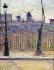 """Paul Signac (1863-1935). """"Le moulin de la Galette, 1884"""". Huile sur toile. Paris, musée Carnavalet. © Musée Carnavalet / Roger-Viollet"""