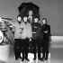 """Les Beatles présentant leur chanson """"What's Falling?"""" pendant l'émission """"Eamonn Andrews Show"""". Londres (Angleterre), 12 avril 1965. © PA Archive/Roger-Viollet"""