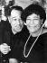 Duke Ellington (1899-1974), pianiste, compositeur et chef d'orchestre américain, et Ella Fitzgerald (1917-1996), chanteuse de jazz américaine. Francfort-sur-le-Main (Allemagne), 1966. © Ullstein Bild/Roger-Viollet