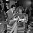 """Danielle Darrieux et Paul Meurisse pendant le tournage du film """"Le Septième ciel"""" de Raymond Bernard. France, 1957. © Alain Adler/Roger-Viollet"""