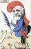"""""""Empereur des palmipèdes"""". Caricature sur Emile Loubet (1838-1929), homme d'Etat français. Carte postale humoristique, après 1903. © Roger-Viollet"""