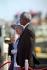 Nelson Mandela (1918-2013), homme d'Etat sud-africain, et la reine Elisabeth II (née en 1926). Le Cap (Afrique du Sud). 20 mars 1995. © Martin Keene / TopFoto / Roger-Viollet