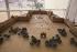 Construction de la Pyramide du Louvre. Maquette. Paris, 1985. Architecte : Ieoh Ming Pei. © Jean-Pierre Couderc / Roger-Viollet