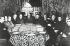 Guerre d'Espagne (1936-1939). Photomontage représentant les membres du premier gouvernement nationaliste formé à Burgos (Espagne) avec Francisco Franco au centre. © Iberfoto / Roger-Viollet