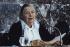 Marguerite Yourcenar (1903-1987), écrivain français, à l'Académie Française. Paris, 1981. © Jean-Régis Roustan/Roger-Viollet
