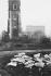 Site bombardé pendant la guerre 1939-1945 à la City. Londres (Angleterre), 1958. © Jean Mounicq/Roger-Viollet