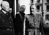 Guerre 1939-1945. Le maréchal Pétain (1856-1951) et le général Franco (1892-1975). Montpellier (Hérault), février 1941. © LAPI / Roger-Viollet