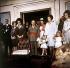 Le général Franco (1892-1975), homme d'Etat espagnol, avec sa famille et les héritiers du trône d'Espagne. 1969.  © Ullstein Bild / Roger-Viollet
