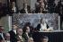 Marguerite Yourcenar (1903-1987), écrivain français, à l'Académie Française. Derrière elle, Jean d'Ormesson. Paris, 1981. © Jean-Régis Roustan/Roger-Viollet
