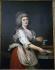 """Adolf Wertmuller (1751-1811), école suédoise. """"Marie-Antoinette (1755-1793)"""". Musée de Stockholm (Suède). © Roger-Viollet"""