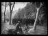 """Guerre d'Espagne (1939-1936) """"La Retirada"""". Visite d'Albert Sarraut (1872-1962), ministre de l'Intérieur, et Marc Rucart (1893-1964), ministre de la Santé publique, aux réfugiés espagnols. Le Perthus (Pyrénées-Orientales), 31 janvier 1939. Photographie Excelsior. © Excelsior - L'Equipe / Roger-Viollet"""
