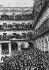 Guerre d'Espagne (1936-1939). Présentation des lettres de créance au général Franco sur la place principale de Salamanque (Espagne), 1937. Collection privée. © Iberfoto / Roger-Viollet