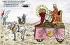 Char de Pilate. Caricature sur Emile Loubet (1838-1929), homme d'Etat français. Carte postale humoristique, par Castor. © Roger-Viollet