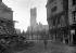 Guerre 1914-1918. Offensive allemande du printemps. Vue de la cathédrale de Péronne détruite. Péronne (France), fin mars 1918. © Ullstein Bild/Roger-Viollet