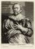 """Anton van Dyck (1599-1641). """"Portrait de Jacob Jordaens"""". Gravure. Musée des Beaux-Arts de la Ville de Paris, Petit Palais. © Petit Palais / Roger-Viollet"""