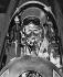 Guerre de Corée (1950-1953). Pilote à bord de d'un avion de chasse F-84 Thunderjet. Corée, 2 décembre 1950. © Underwood Archives / The Image Works / Roger-Viollet