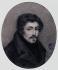 """Alphonse Boilly (1801-1867). """"Portrait d'Eugène Delacroix à 20 ans"""", 1818. Dessin (mine de plomb sur papier). Paris, musée Carnavalet. © Musée Carnavalet / Roger-Viollet"""