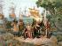 Christophe Colomb (1451-1506), navigateur génois, arrive avec son escorte à Guanahani (San Salvador). 14 octobre 1492. Lithographie du XIXème siècle. © Ullstein Bild / Roger-Viollet