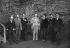 Invités d'une fête chez Wilfrid Scawen Blunt (1840-1922), poète et écrivain anglais. De g. à dr.: Victor Plarr, Sturge Moore, W.B. Yeats, Wilfrid Scawen Blunt, Ezra Pound, Richard Aldington et F.S. Flint, 1914. © TopFoto/Roger-Viollet