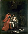 """Eugène Delacroix (1798-1863) d'après """"Othello"""" de William Shakespeare. """"Desdémone maudite par son père"""". Huile sur toile. Reims, Musée des beaux-arts. © Roger-Viollet"""