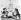 """Duel entre Dominique Ingres et Eugène Delacroix : """"la ligne et la couleur"""". Caricature. © Roger-Viollet"""