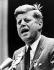 John F. Kennedy (1917-1963), homme d'Etat américain, prononçant un discours d'une convention politique. New York (Etats-Unis), 18 novembre 1963. © TopFoto / Roger-Viollet