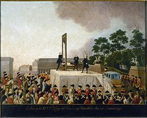 Execution of the King Louis XVI of France, on January 21, 1793. Oil on copper. Paris, musée Carnavalet. © Musée Carnavalet/Roger-Viollet