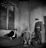 """Les Justes"", pièce d'Albert Camus. Serge Reggiani. Paris, théâtre Hébertot, décembre 1949. © Studio Lipnitzki / Roger-Viollet"