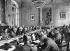 Signature du traité de Versailles entre les Alliés et l'Allemagne, définissant les conditions de l'Armistice entre les puissances centrales au lendemain de la Première Guerre mondiale. A droite, appuyé contre le dossier de sa chaise : Sir Douglas Haig (1861-1928), maréchal britannique. Versailles (Yvelines), 28 juin 1919. © PA Archive / Roger-Viollet