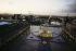 Le Musée du Louvre, la Pyramide à la tombée de la nuit, 1992. Architecte : Ieoh Ming Pei.  © Jean-Pierre Couderc / Roger-Viollet