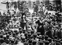Miss Harriet Stanton Blatch (1856-1940), suffragette américaine, au cours d''un meeting dans Wall Street. New York, vers 1910. © Albert Harlingue / Roger-Viollet