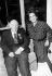Jean Renoir (1894-1979), cinéaste français et Françoise Giroud (1916-2003), journaliste, écrivain et femme politique française.  © Jack Nisberg / Roger-Viollet