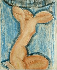 "Amedeo Modigliani (1884-1920). ""Cariatide"". Crayon, lavis, 1913. Paris, musée d'Art moderne. Paris, musée d'Art moderne. © Musée d'Art Moderne/Roger-Viollet"