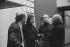 Léo Ferré (1916-1993), chanteur français, et Maurice Frot (1928-2004), écrivain français (deuxième à gauche). © Geneviève Van Haecke / Roger-Viollet