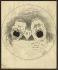 """Theodore Roosevelt (1858-1919) et William Howard Taft (1857-1930), hommes d'Etat américains, chantant ensemble """"For He's a Jolly Good Fellow"""" (Car c'est un bon camarade). Caricature des deux candidats pour l'élection présidentielle américaine, 22 mai 1912. © The Image Works / Roger-Viollet"""