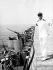 Le prince Juan Carlos (né en 1938), à bord d'un navire de guerre espagnol. 1969. © Ullstein Bild/Roger-Viollet