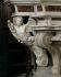 Ange sculpté dans le retable de l'église paroissiale de Fivizzano (Italie), XVIème siècle. © Alinari/Roger-Viollet