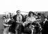 Giulietta Masina (1920-1994), actrice italienne, Federico Fellini (1920-1993), scénariste et réalisateur italien, et Yvonne Furnaux (née en 1928), actrice française, 1960. © Roger-Viollet