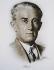 Maurice Ravel (1875-1937), compositeur français. Lithographie d'Horacio. © Iberfoto / Roger-Viollet