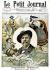 """Gravure en hommage à Frédéric Mistral (1830-1914), écrivain français, au moment de son Prix Nobel. """"Le Petit Journal"""", décembre 1904. © Roger-Viollet"""