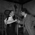 """""""Les Affreux"""", film de Marc Allégret. Pierre Fresnay et Darry Cowl. France, 25 mars 1959.  © Alain Adler / Roger-Viollet"""