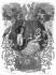 """François-René, Vicomte de Chateaubriand et sa femme Céleste. Illustration pour """"Mémoires d'outre-tombe"""" de François-René de Chateaubriand. Gravure de F. Delannoy d'après R. Demoraine. © Roger-Viollet"""