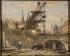 """Georges Souillet (1861-1947/57). """"Les travaux du métropolitain, place Saint-Michel"""". Huile sur toile. Paris, musée Carnavalet.    © Musée Carnavalet/Roger-Viollet"""