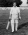 Le prince Philip (né en 1921), duc d'Edimbourg, à la fin d'un match de cricket. Château d'Arundel (Angleterre), 2 août 1953. © TopFoto / Roger-Viollet